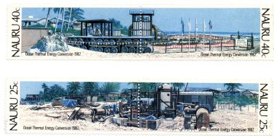 Postage Stamp Issued by Nauru to Commemorate CC-OTEC Demonstration Plant (1982)