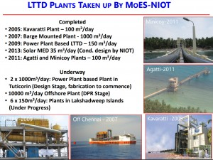 LTTD plants developed and underway in India